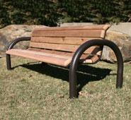 Modern Rectangular Wood Bench