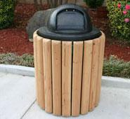 22 Gallon Natural Trash Receptacle
