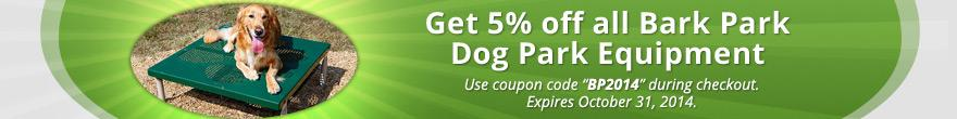 5% Off Bark Park Products