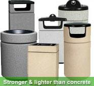 Poly Lite Crete Series Receptacles