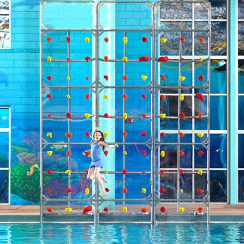 16ft. High Pool Climbing Wall