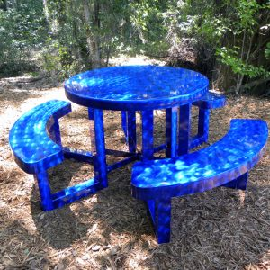 "42"" Round Aluminum Picnic Table"