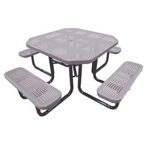 46in. Octagonal Perforated Picnic Table