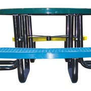 46in. Round Expanded Metal Children's Picnic Table_2