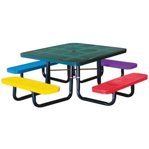 46in. Square Perforated Children's Picnic Table