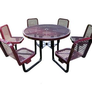 46in. Round Table with Chairs