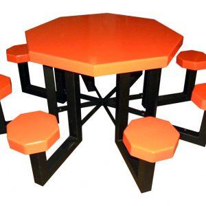 "48"" Octagon Aluminum Picnic Table"