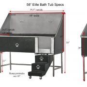 58″ Elite Grooming Tub
