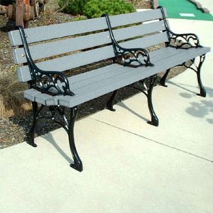 6' Recycled Plastic Park Bench
