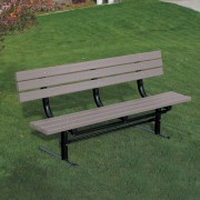 Traditional Recycled Plastic Park Bench