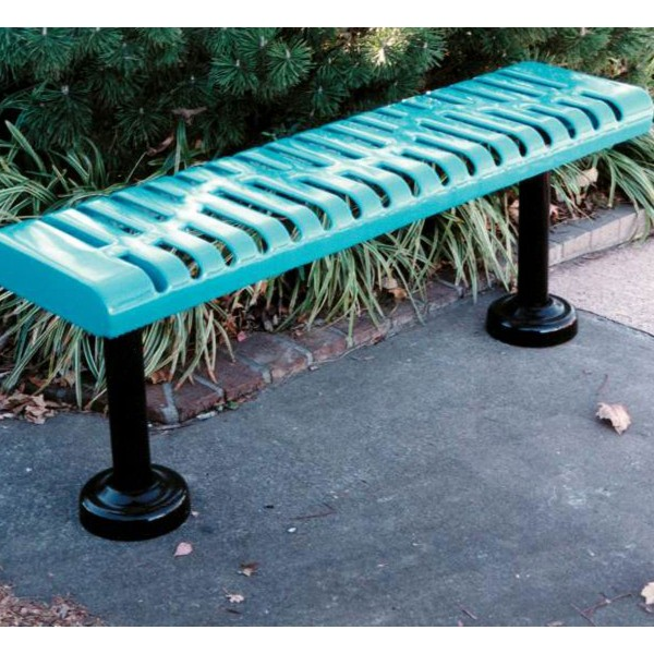 Classic Rolled Style Backless Bench
