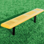 Perforated Style Backless Bench
