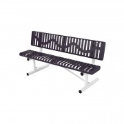 6′ Classic Rolled Style Bench with Back