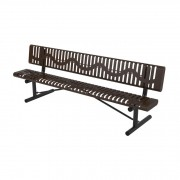 8′ Classic Rolled Style Bench with Back