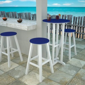 POLYWOOD® Traditional Bar Height Bar Stool