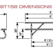 Bolt-Thru Rectangular Table