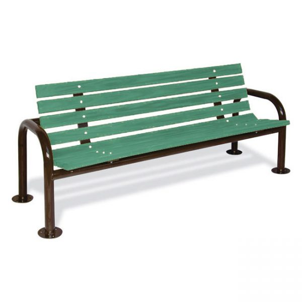 Contoured Recycled Plastic Bench