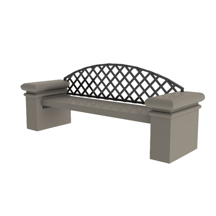 DB84 Series Concrete Bench with Back Concrete Outdoor Benches