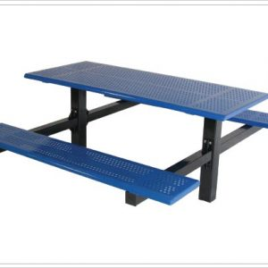 "Double Cantilever Picnic Table with 4"" Square Tubing"