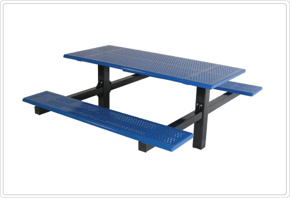 Double Cantilever Picnic Table with 4″ Square Tubing