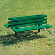 Double Sided Recycled Plastic Park Bench