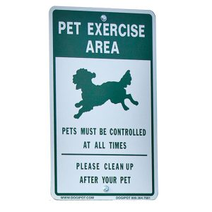 """Exercise Area"" Aluminum Sign"