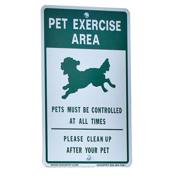 """""""Exercise Area"""" Aluminum Sign"""