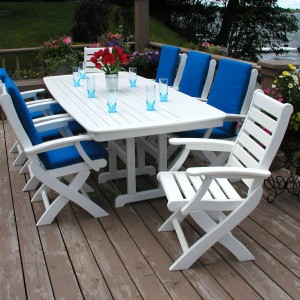 "POLYWOOD® Nautical 37"" x 72"" Dining Table"