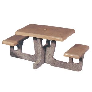 Square 2 Seat Concrete Picnic Table