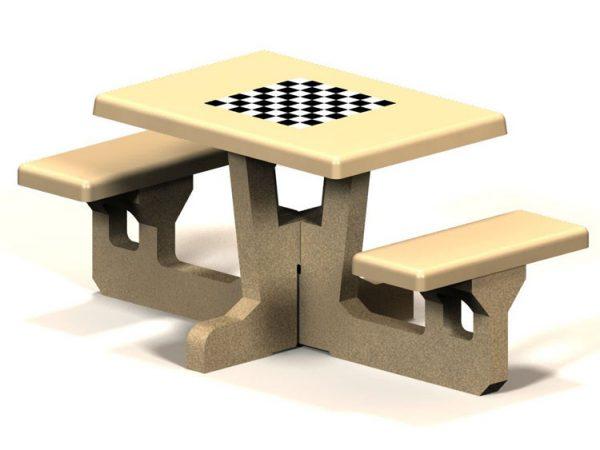 Square 2 Seat Concrete Picnic Table