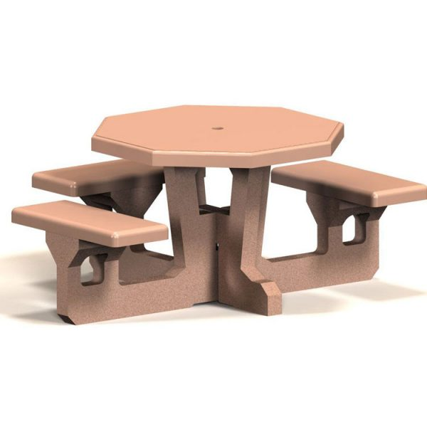 Handicap Octagon Concrete Picnic Table