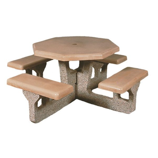 Octagon Concrete Picnic Table