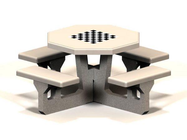 Octagon Concrete Picnic Table