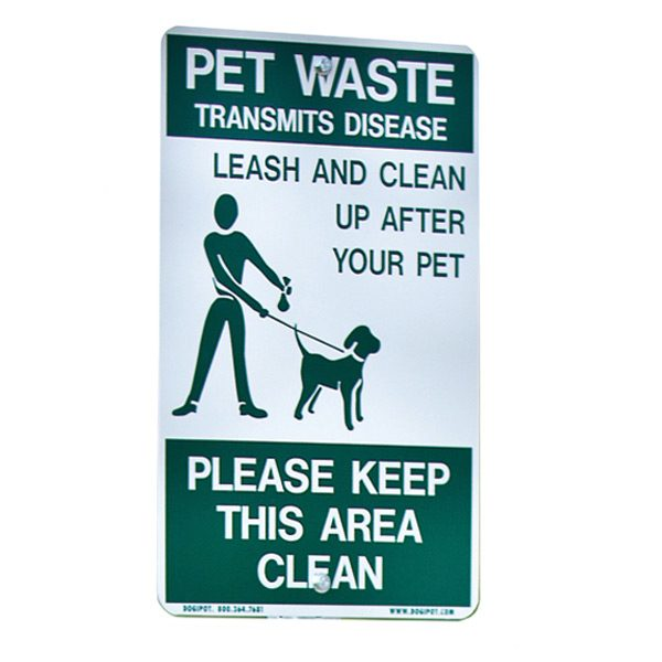 """On Leash"" Aluminum Sign"