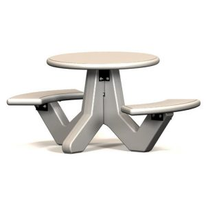 Handicap Round 2 Seat Concrete Picnic Table