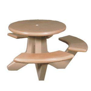 Handicap Round Concrete Picnic Table