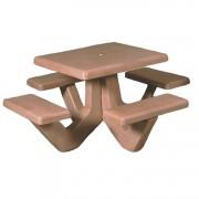 Square Concrete Picnic Table