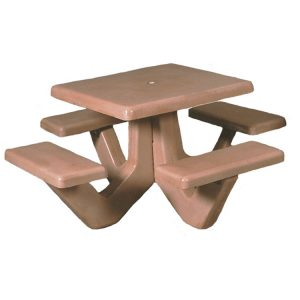 Square Concrete Picnic Table