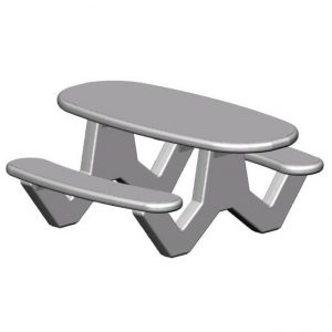 "RTOV Series Handicap 72"" Oval Table"