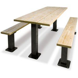 Rectangular Multi Pedestal Table