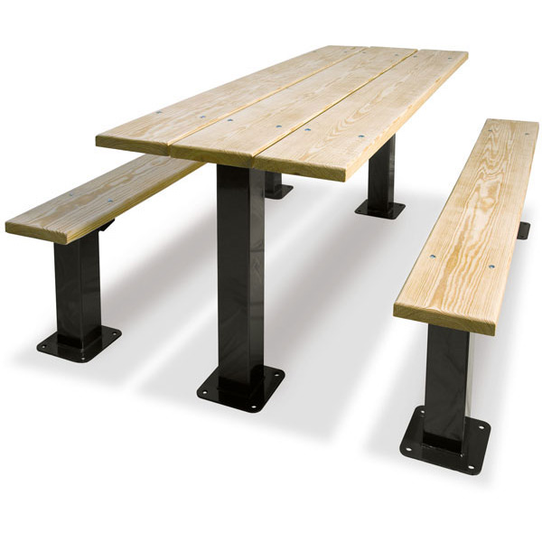 Rectangular Multi Pedestal Table