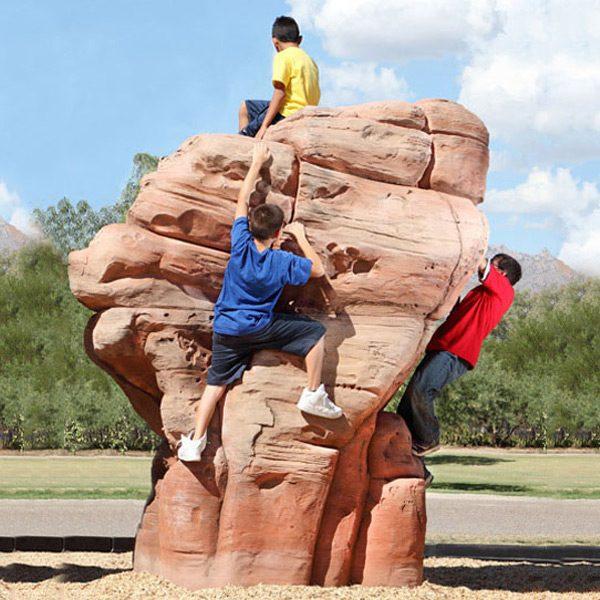 Large Sandstone Climbing Boulder