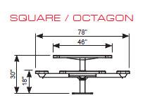 Square Single Pedestal Table