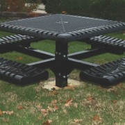 Classic Style Square Pedestal Table