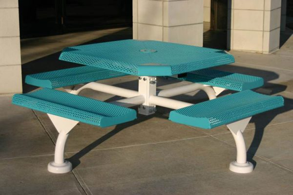 Web Style Octagon Perforated Picnic Tables