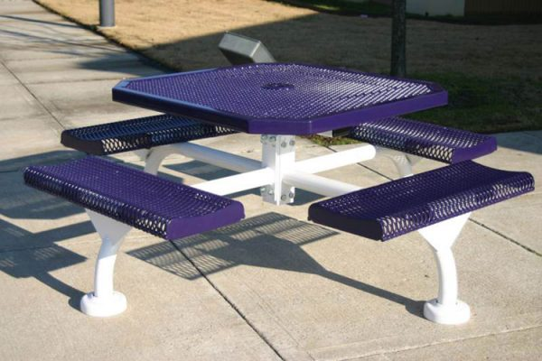 Web Style Octagon Rolled Picnic Table
