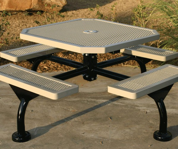 Web Style Octagon Picnic Table
