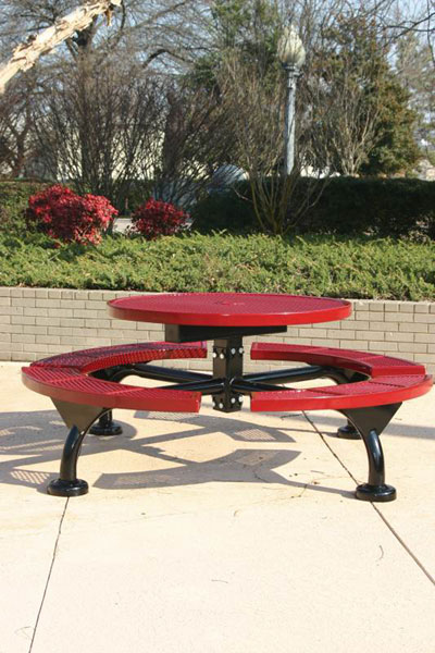 Web Style Round Picnic Table