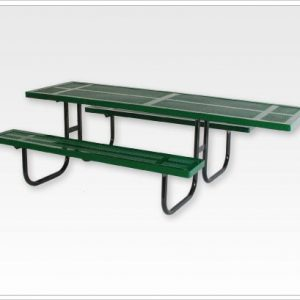 Wheelchair Accessible Rectangular Picnic Table Walk Through