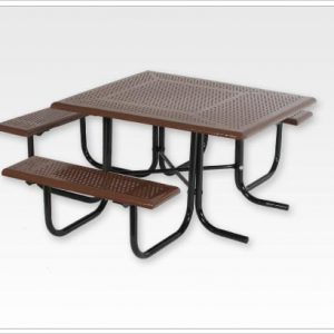 Wheelchair Accessible Square Picnic Table Walk Through Frame